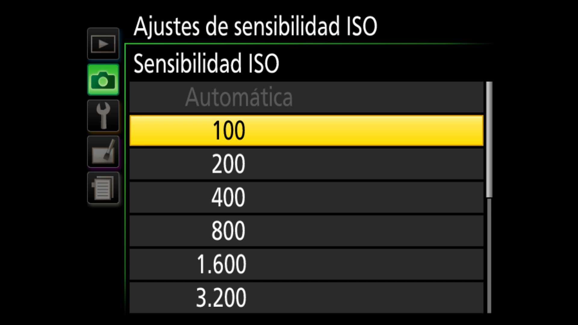 ISO en fotografía